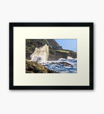 Explosive Wave! Framed Print
