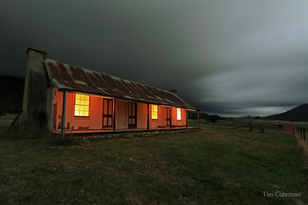 Orroral Valley Homestead, by night by Tim Coleman