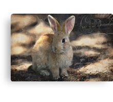 Woodland Rabbit - Wild Rabbit in Forest - Watercolor Rabbit Cards - Hopping Down the Bunny Trail Canvas Print