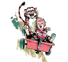 Calvin And Hobbes Fast Photographic Print