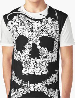 Pokemon Skull Pattern Graphic T-Shirt