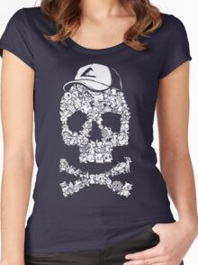 Pokemon Skull Pattern Women's Fitted Scoop T-Shirt