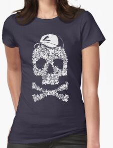 Pokemon Skull Pattern Womens Fitted T-Shirt
