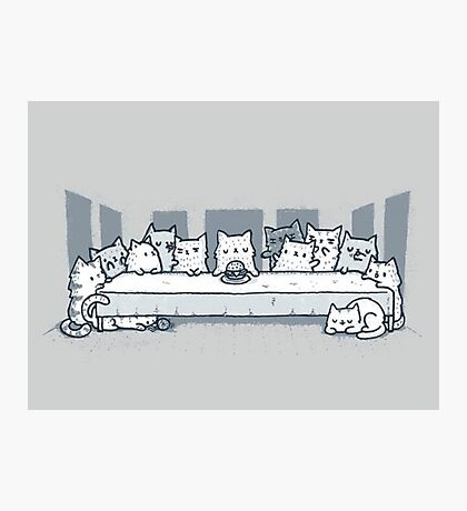 Kitty last supper Photographic Print