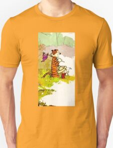 calvin and hobbes funny forest T-Shirt