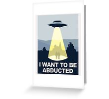 Abducted Greeting Card