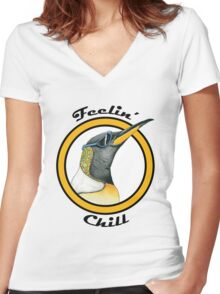 Feelin' Chill.  Women's Fitted V-Neck T-Shirt