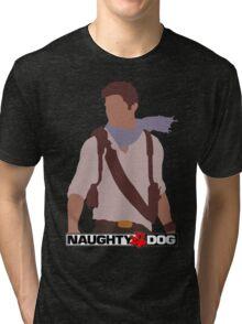 Uncharted 3 - Minimalist Drawing Tri-blend T-Shirt
