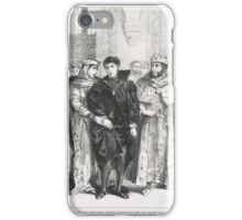 EUGENE DELACROIX,   (THE QUEEN TRIES TO CONSOLE HAMLET) (ACT I. SC. II), FROM SHAKESPEARE'S HAMLET iPhone Case/Skin