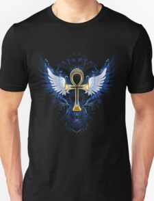 Golden Ankh Cross T-Shirt