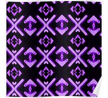 Bright Neon Purple Abstract Pattern Poster