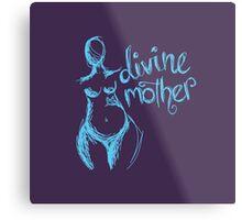 Divine Mother Pregnant Goddess purple blue  Metal Print