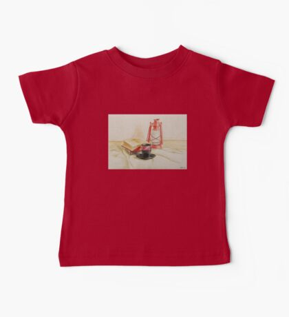 Still life with red oil lamp Baby Tee