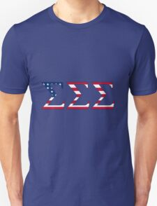 Sigma Sigma Sigma - USA Unisex T-Shirt