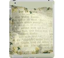 PSALM 23 IN GERMAN (old parchment) iPad Case/Skin