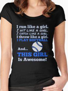 SOFTBALL GIRL Women's Fitted Scoop T-Shirt