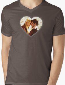 Captain Swan Heart Design 4 Mens V-Neck T-Shirt