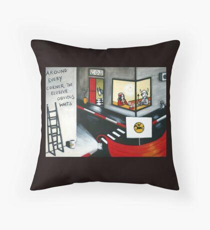 The Elusive Obvious Throw Pillow