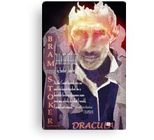 Dracula Character Revealed by Another Character Canvas Print