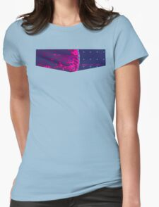 Death Star Targeting Computer Synthwave Womens Fitted T-Shirt