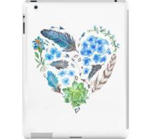 Boho Style Watercolor Heart Shape iPad Case/Skin