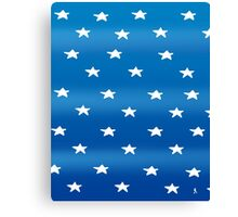 Stars blue Canvas Print