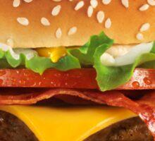 Burger Pattern Red Sticker
