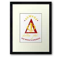 Fake Sorority Delta Phi Framed Print