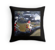 Sister Moon Throw Pillow