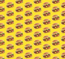 Burger Pattern Yellow by Lucy Lier
