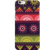 Flowers and mint. Tribal pattern iPhone Case/Skin