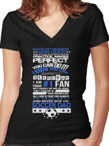 Tough Soccer Dad Women's Fitted V-Neck T-Shirt