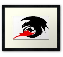 Night Fury Logo Framed Print