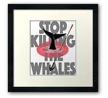 Stop the killing Framed Print