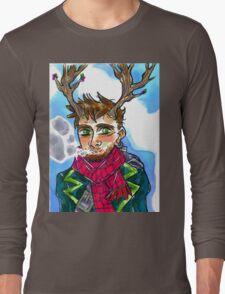 Smoking queer man Long Sleeve T-Shirt