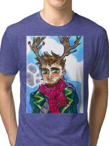 Smoking queer man Tri-blend T-Shirt
