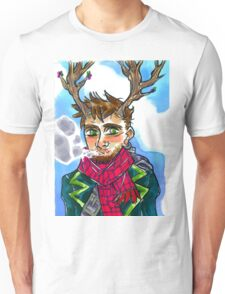 Smoking queer man Unisex T-Shirt
