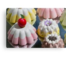 colorful decorated pastries Metal Print