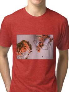 lentils and beans spread on a table top  Tri-blend T-Shirt