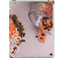 lentils and beans spread on a table top  iPad Case/Skin