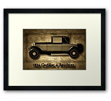 A digital painting of A Cadillac 6 Roadster Framed Print