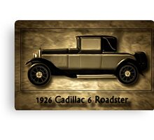 A digital painting of A Cadillac 6 Roadster Canvas Print