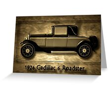 A digital painting of A Cadillac 6 Roadster Greeting Card