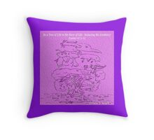 TREE OF LIFE IN THE RIVER OF LIFE Throw Pillow