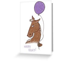 birthday horse Greeting Card