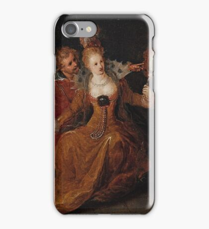 Frans Francken the Younger, Allegory of Sight iPhone Case/Skin