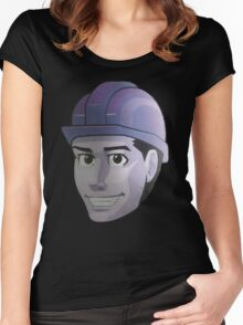 Hard Hat Grin........... Women's Fitted Scoop T-Shirt