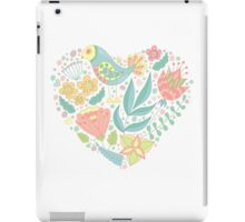 Spring heart with bird and florals. iPad Case/Skin