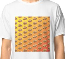 Burger Pattern Orange Classic T-Shirt