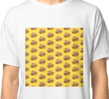 Burger Pattern Yellow Classic T-Shirt